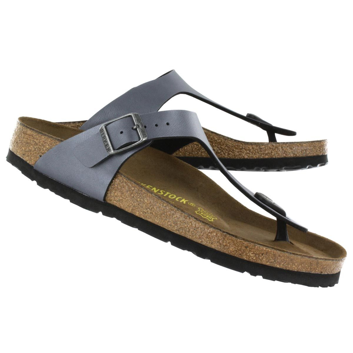 c5aab656e035 Birkenstock Women s GIZEH onyx ice thong sandals 843801