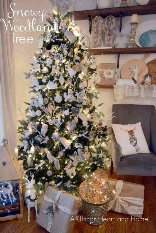 Snowy Woodland Creature Tree All Things Heart And Home Handmade Christmas Tree Woodland Christmas Christmas Themes