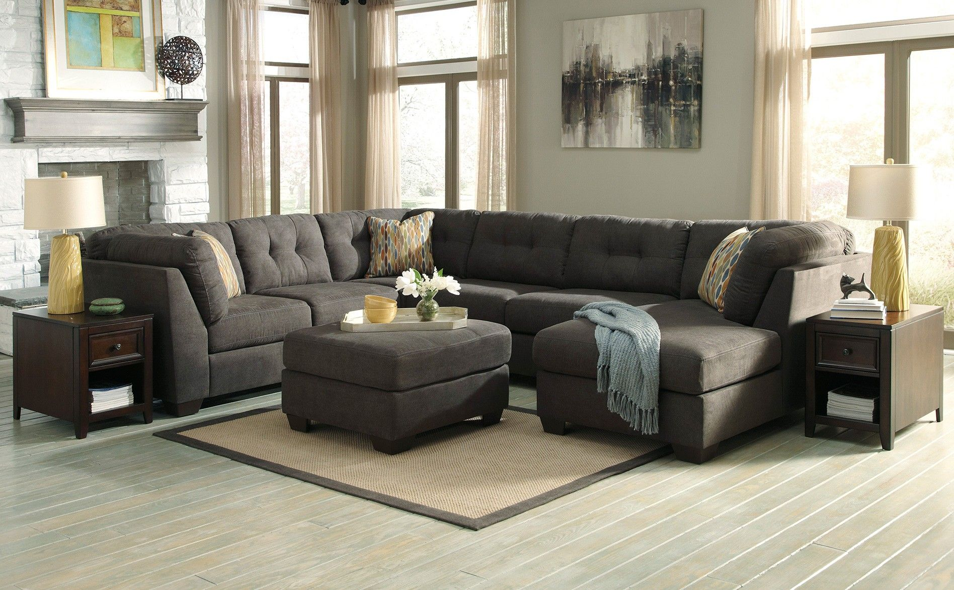 Pleasant Ashley Delta City Sectional Steel Sectionals Raleigh Download Free Architecture Designs Rallybritishbridgeorg