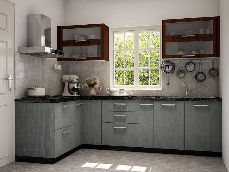 L shaped krabi modular kitchen on capricoast is fulfilled - L shaped indian modular kitchen designs ...
