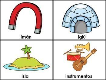 Resultado De Imagen Para Imágenes En Color Que Comiencen Con La Letra I Palabras Con I Abecedario Para Niños Tarjetas De Vocabulario En Español