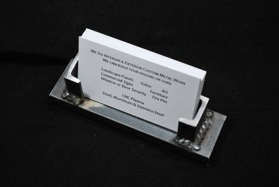 Custom Industrial Style Business Card Holder By Koremetalcraft