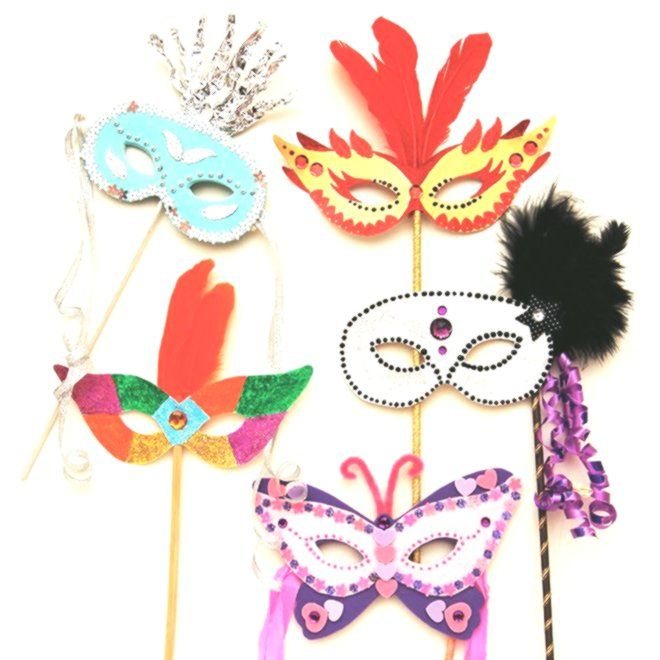 Create your own masquerade mask for Halloween Mardi Gras or any costume party