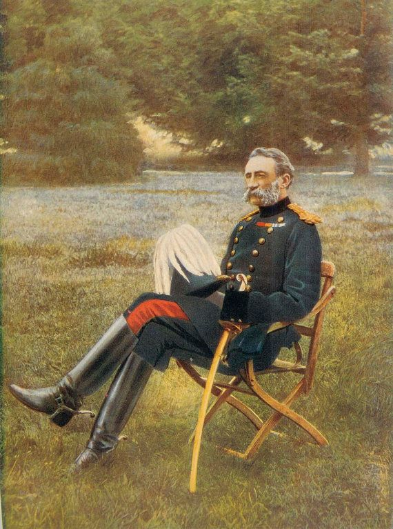 1900, Lieutenant-General Sir Francis Clery, Large Antique Print, Army 133, Military Moustache, Uniform Commander, Frameable Art