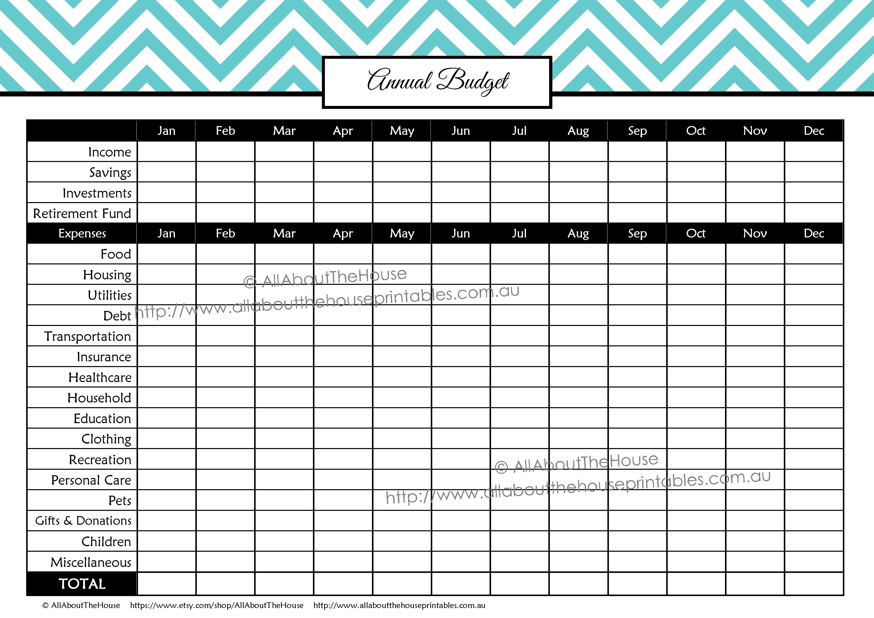 Printable Budget Planner Finance Binder Update With