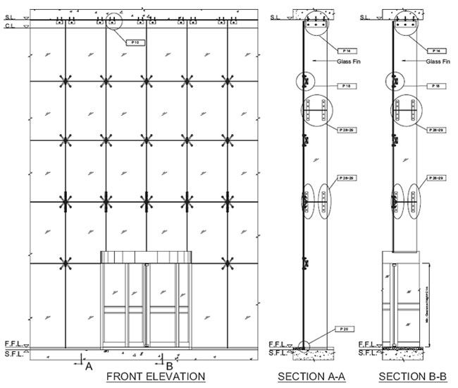 Curtain Wall Spider System Details