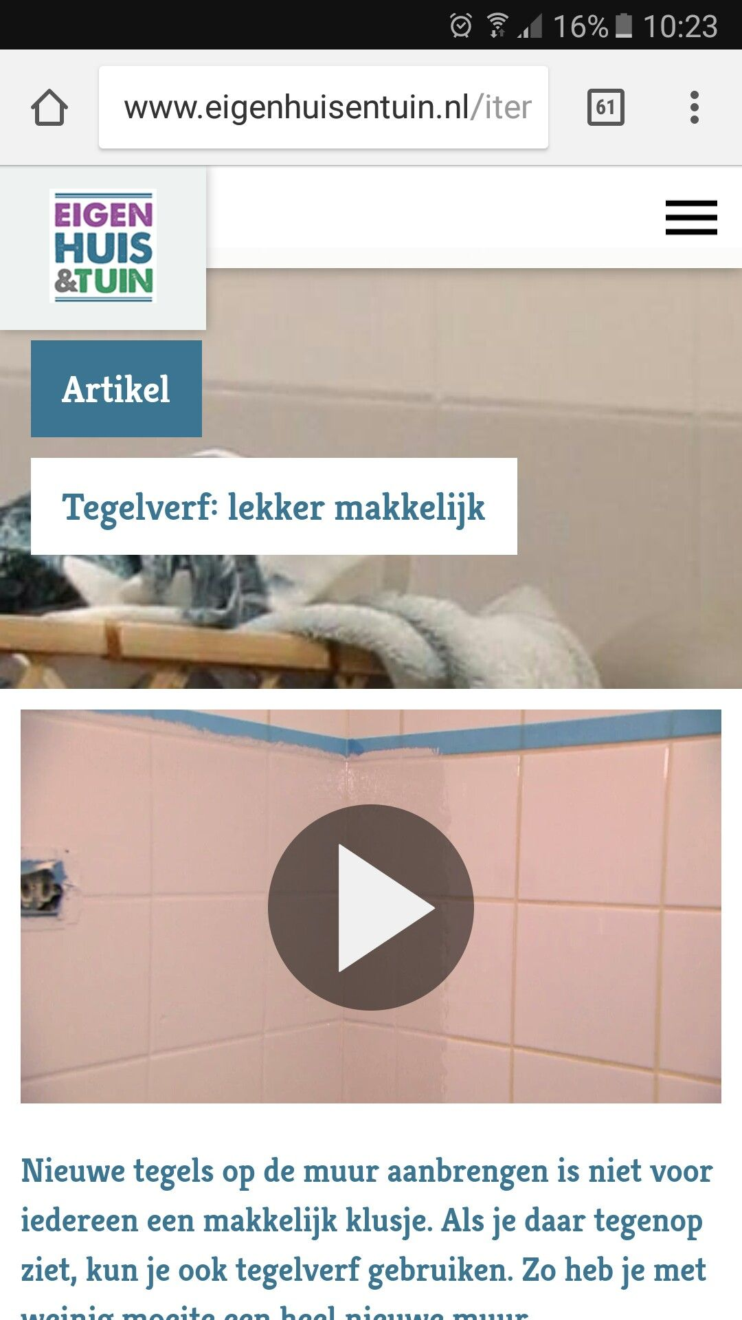 Renovatieverf. Geen primer alleen vetvrij maken. Ook badkamer http ...