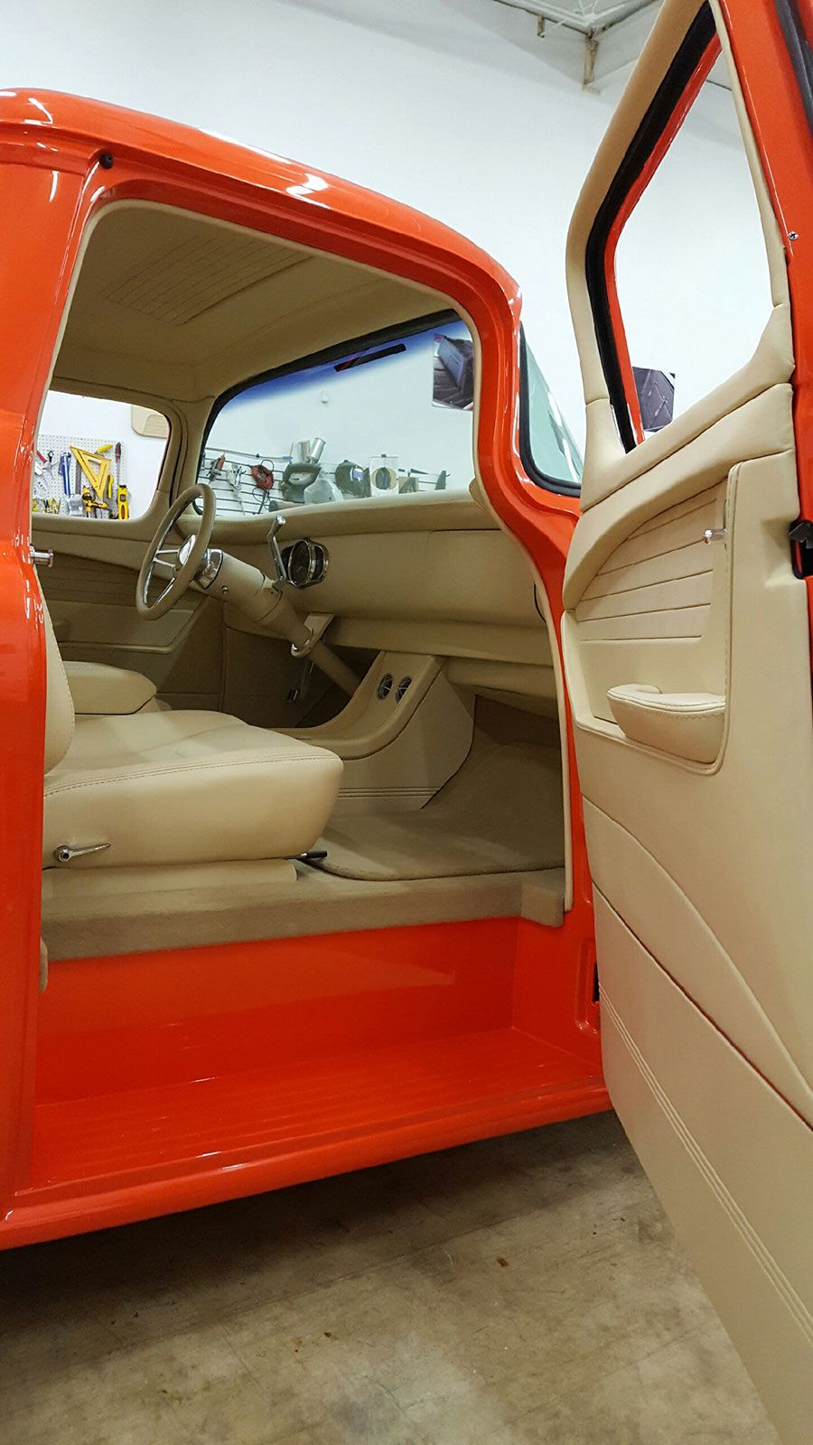 1955 Chevy Truck Built By East Coast Muscle Cars Bux Customs Hot Rod Interiors Custom Trucks Truck Interior Chevy Trucks
