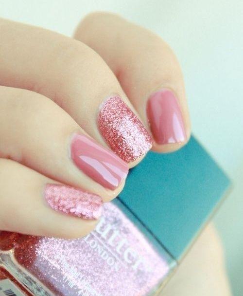 Gorgeous Sparkle Pink Nail Art