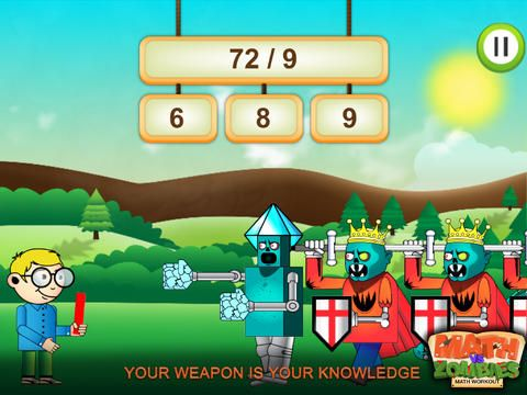 Math Vs Zombies Cool Fun Educational Game For Girls And A Game