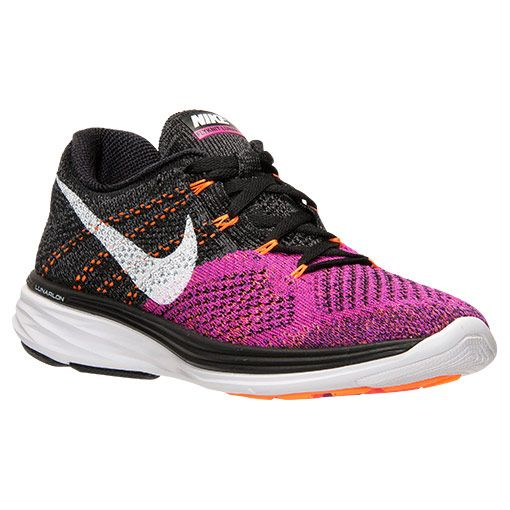 Women's Nike Flyknit Lunar 3 Running Shoes - 698182 006   Finish Line