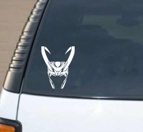 Lokis helmet car decal sticker by wordfactorydesign on etsy 3 95