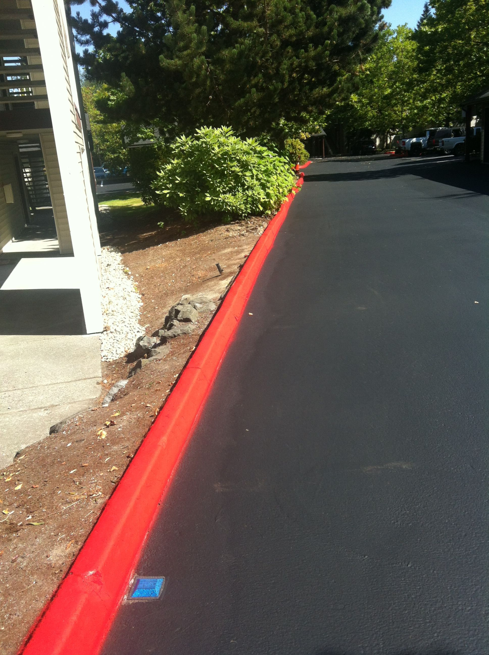 Seal coating and curb striping. Call sms for a quote!