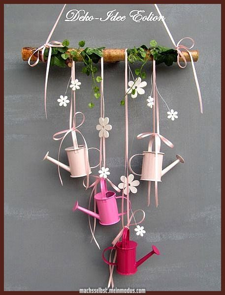 Photo of Great French Window + window decoration ++ watering can + de + decoration + idea Eolion + w …
