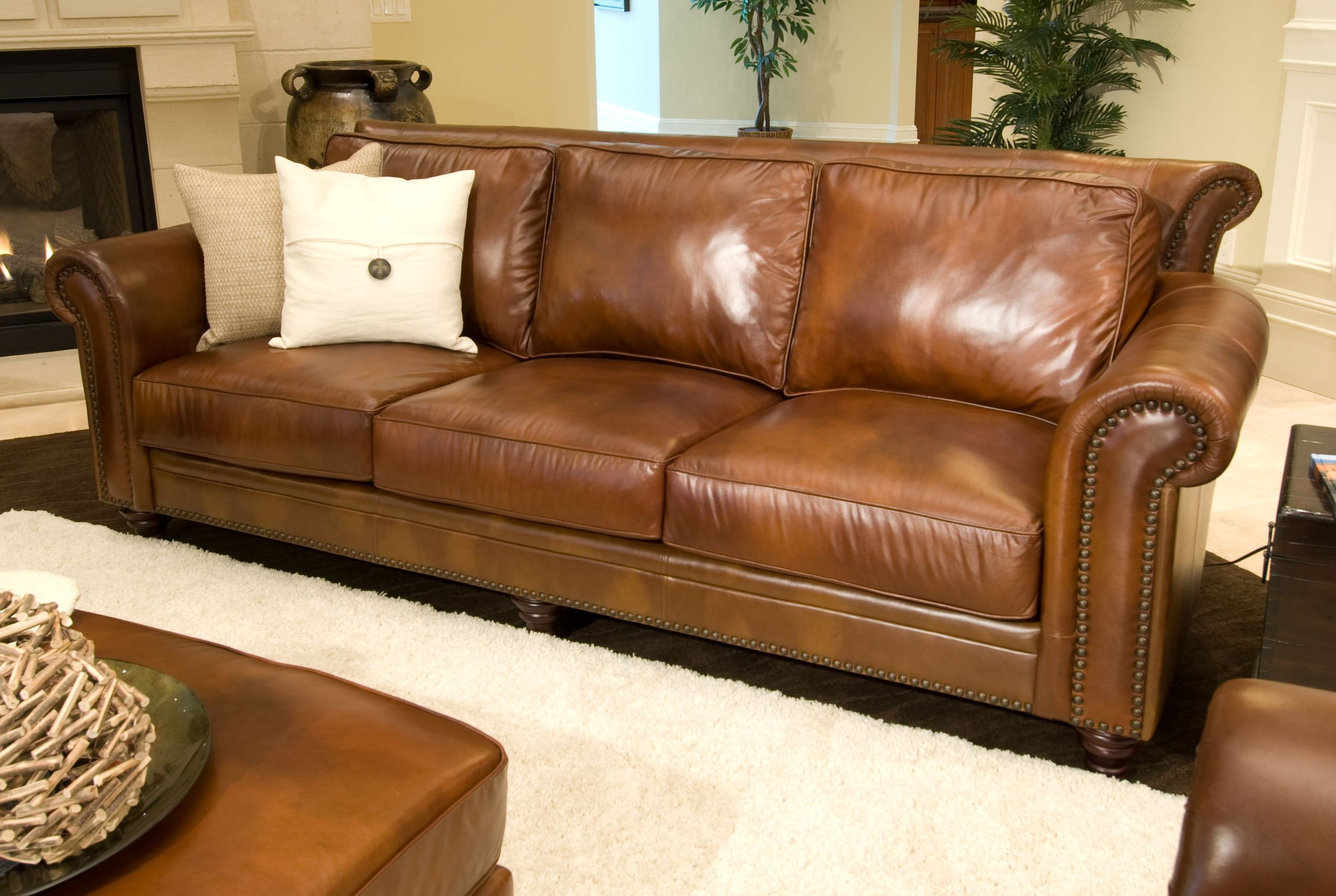 Cool Brown Genuine Leather Sofa Amazing Brown Genuine Leather Sofa 73 In Living Room Sof Light Brown Leather Couch Top Grain Leather Sofa Rustic Leather Sofa