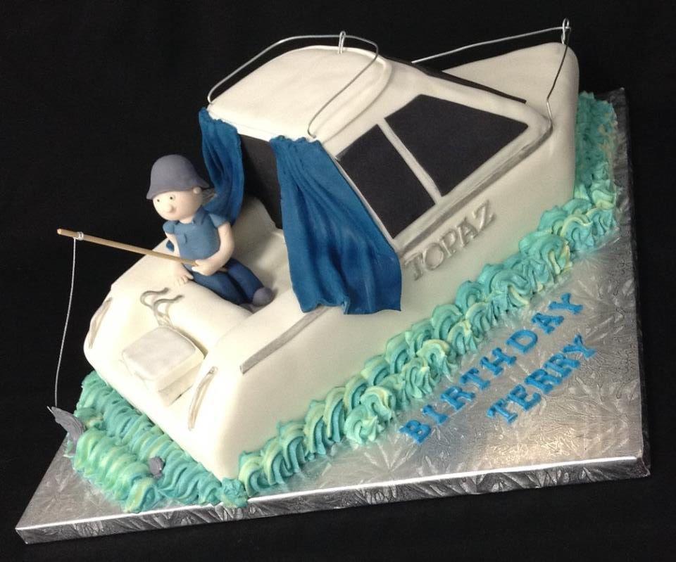Custom Fishing Boat Cake Decorated By Coast Cakes Ltd Adult - Fishing boat birthday cake