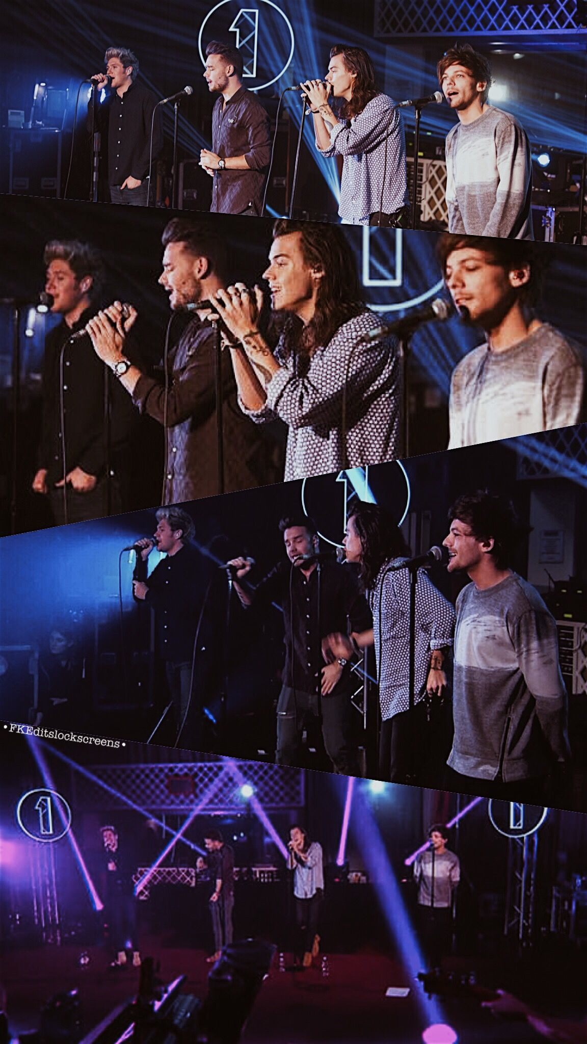 One Direction lockscreen    BBC Radio 1 Lounge performance