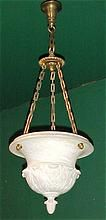 Carved Marble Hanging  Lamp Bowl Style Chandelier Classical