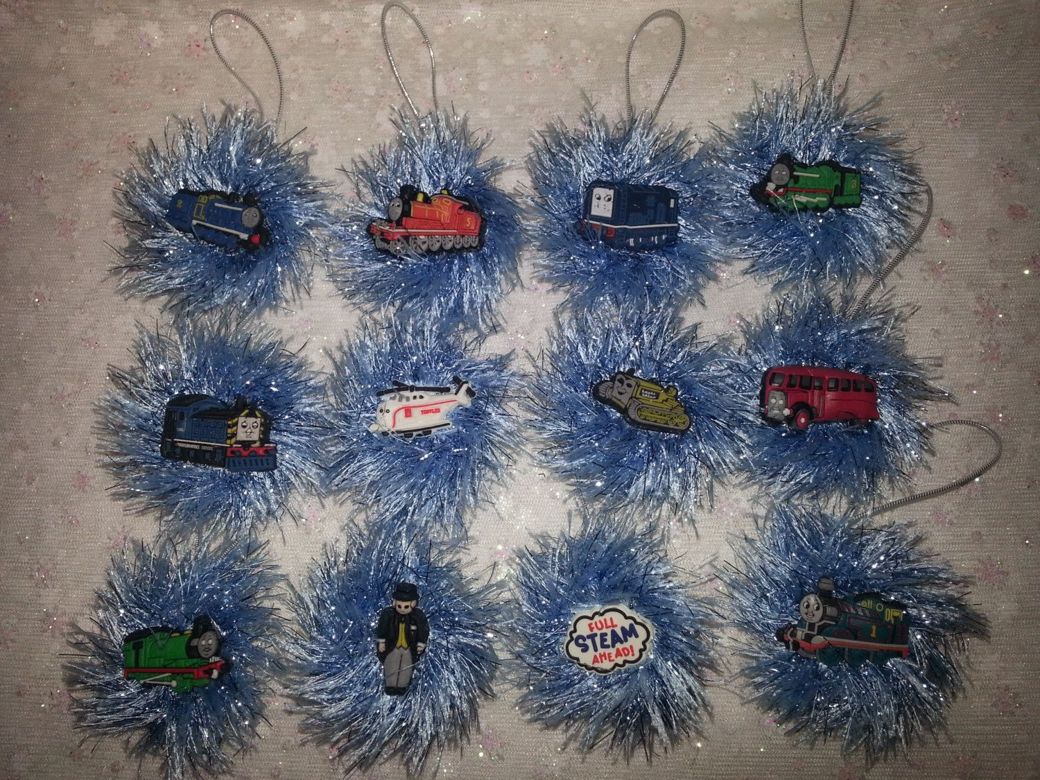 THOMAS the Train CHRISTMAS ORNAMENTS complete set by ...