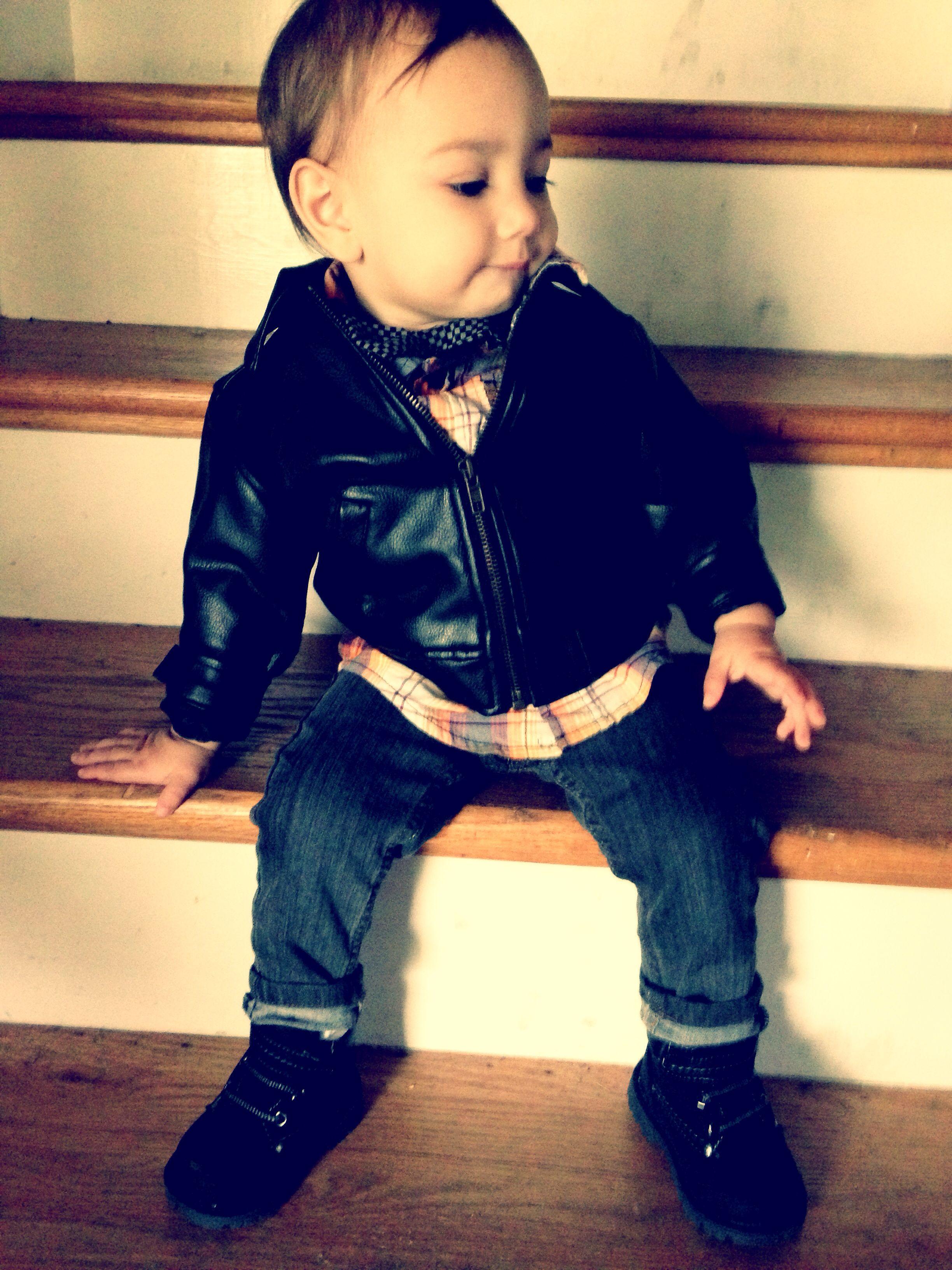 Leather Jacket Atticusbean Baby Fashion Leather Jacket Boys Closet [ 3264 x 2448 Pixel ]