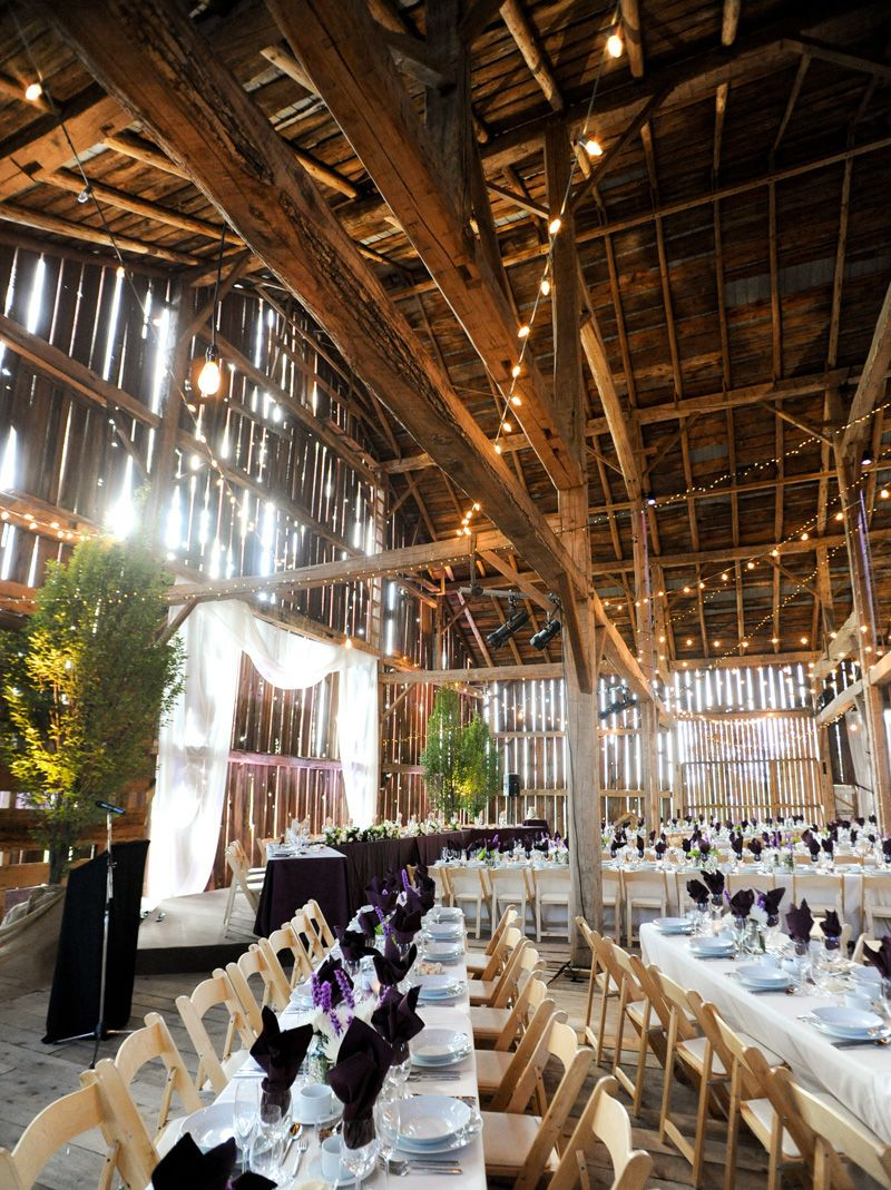 Built Over A Century Ago The Barn At Cambium Farms Is Stunning Rustic Venue With Its Exposed Beams Braces Posts And Rafters Located In Caledon