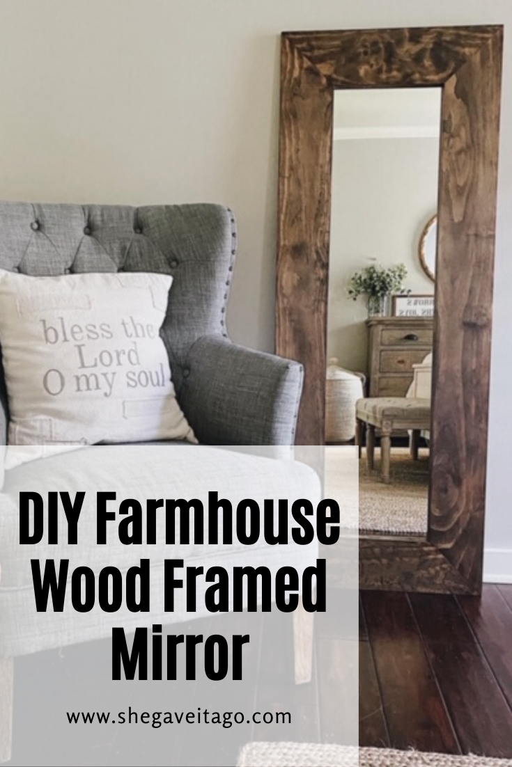 Photo of DIY Farmhouse Wood Framed Mirror — She Gave It A Go