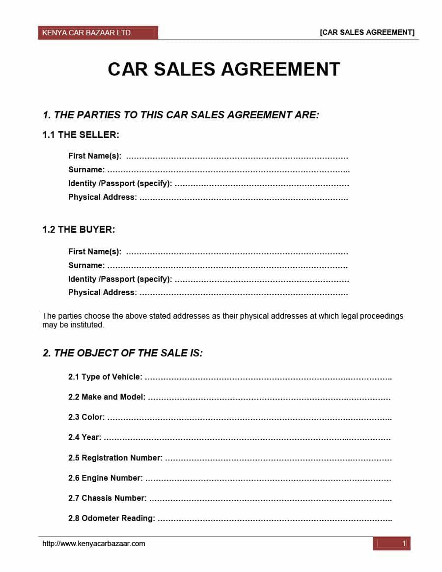 vehicle purchase agreement installment agreements permit the buyer