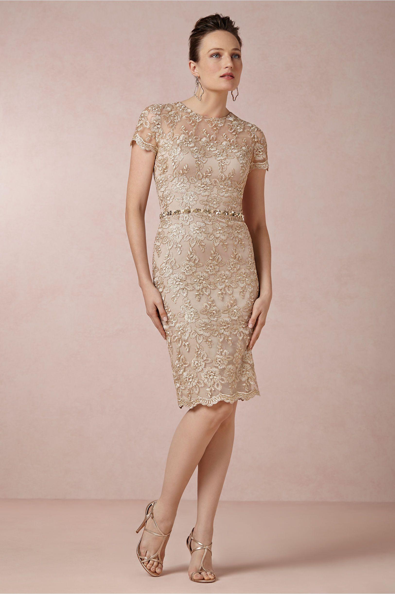Golden Light Dress | Polyester satin, David meister and Lights