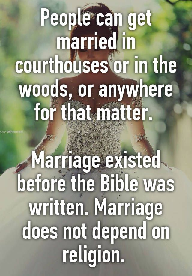 Or any religion for that matter. Marriage is a human right. Stop being so short-sighted, everyone!