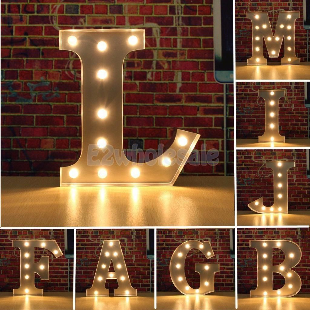 12 Led Marquee Letter Light Vintage Circus Alphabet Light Up Sign A Z 3 Colors Led Lighting Diy Light Letters Lighted Marquee Letters