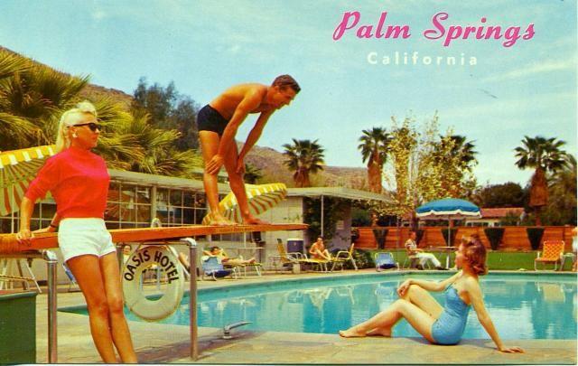 1950 S Palm Springs Postcard