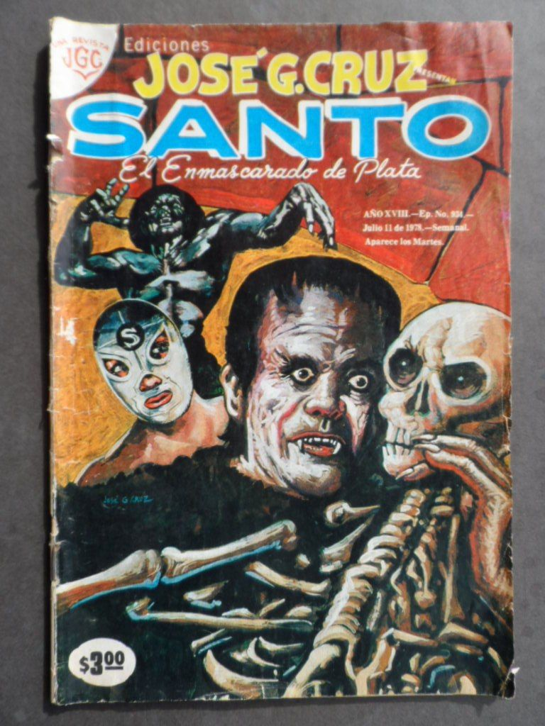 1978 jos g cruz presenta santo el enmascarado de plata comic