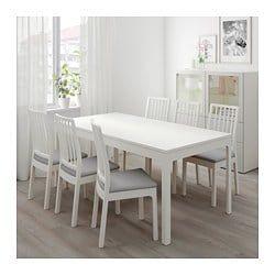 EKEDALEN Mesa extensible - blanco | Mesa para cocina pequeña ...
