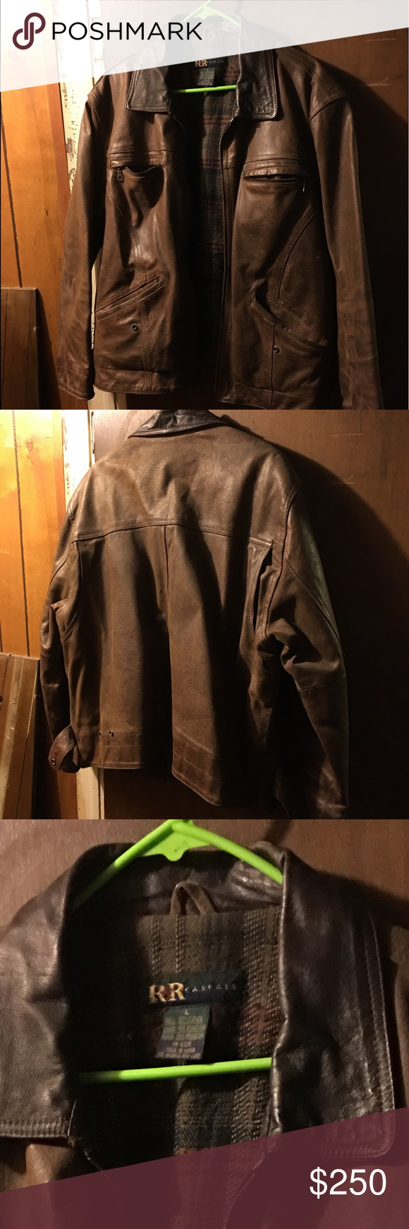 Leather jacket. Great condition! Large. Leather jacket in