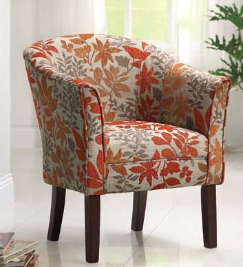 Best Coaster Furniture Beige Orange Fabric Accent Chair 400 x 300