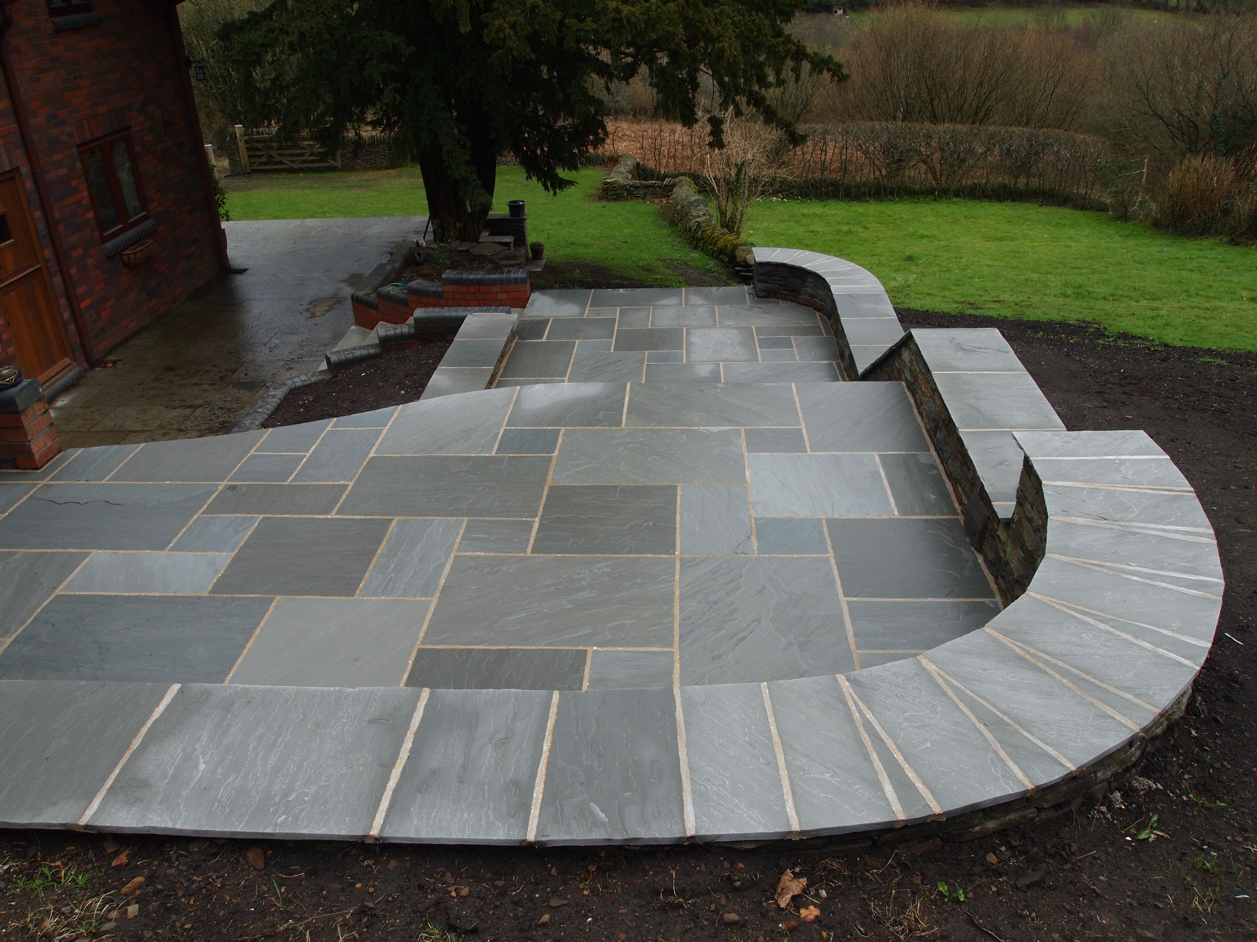 pavestone light grey sandstone