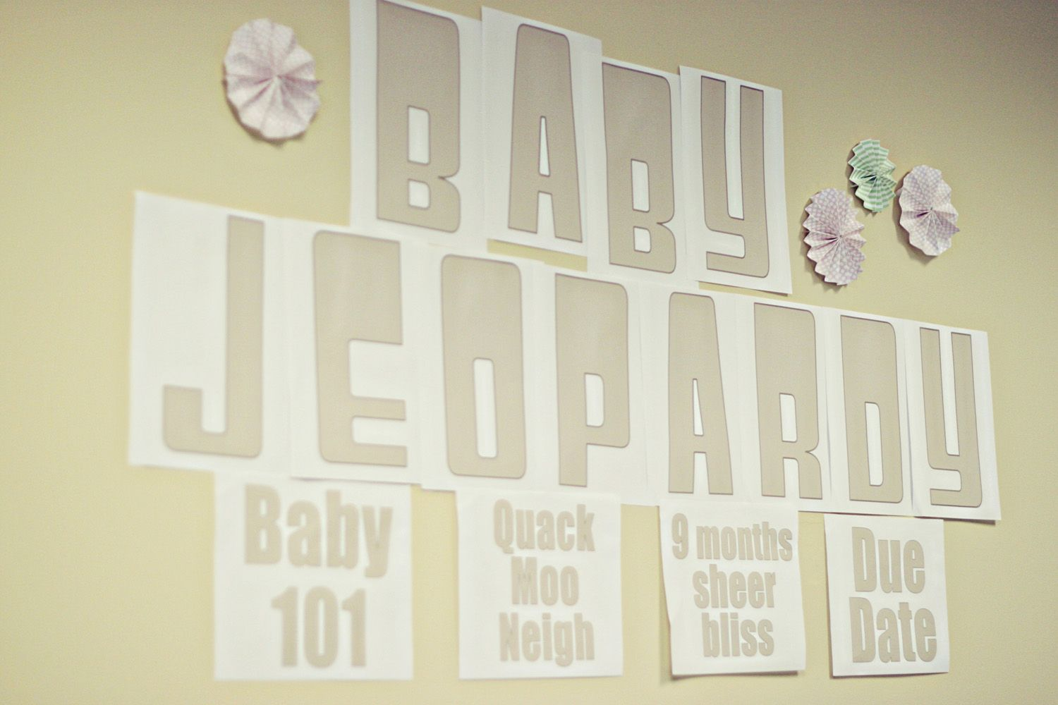 Free Baby Shower Printables Baby Jeopardy Game  At Home With