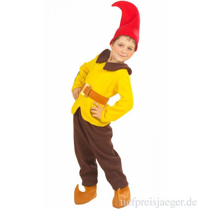 Kinder Zwergenkostum Karneval Fasching Zwerg Gnom Wichtel Kostum