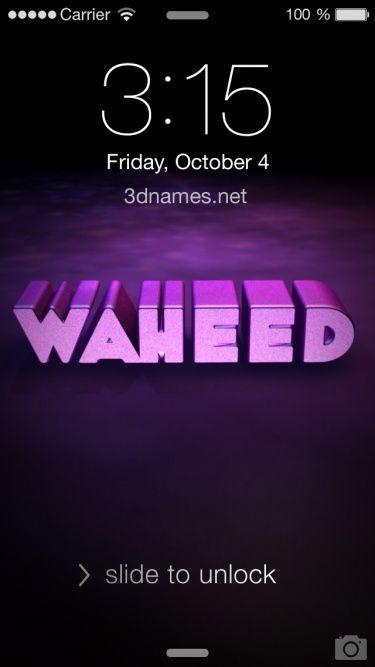 Waheed As A 3d Wallpaper Name Wallpaper Lettering Design 3d Wallpaper Cars