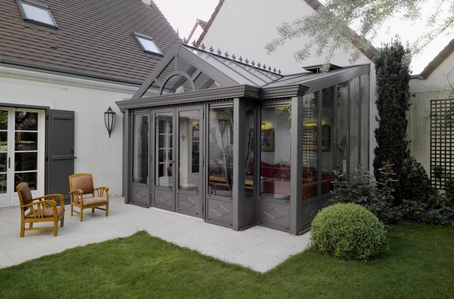 V randa moderne et sur mesure veranda alu v randa verrieres conservatory pinterest - Moderne entree veranda ...