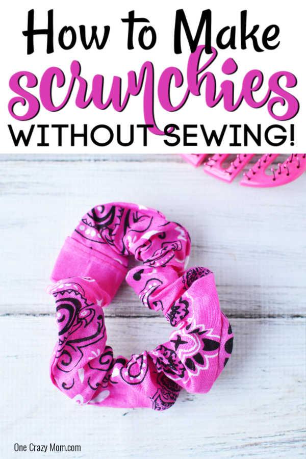 DIY Scrunchie No Sew - how to make a scrunchie no sew -   diy Tumblr gifts