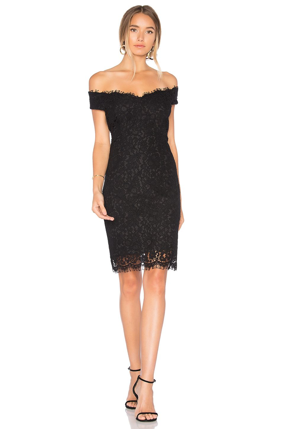 0e29782ff Bardot Tara Lace Off Shoulder Dress in Black | REVOLVE | Women's ...
