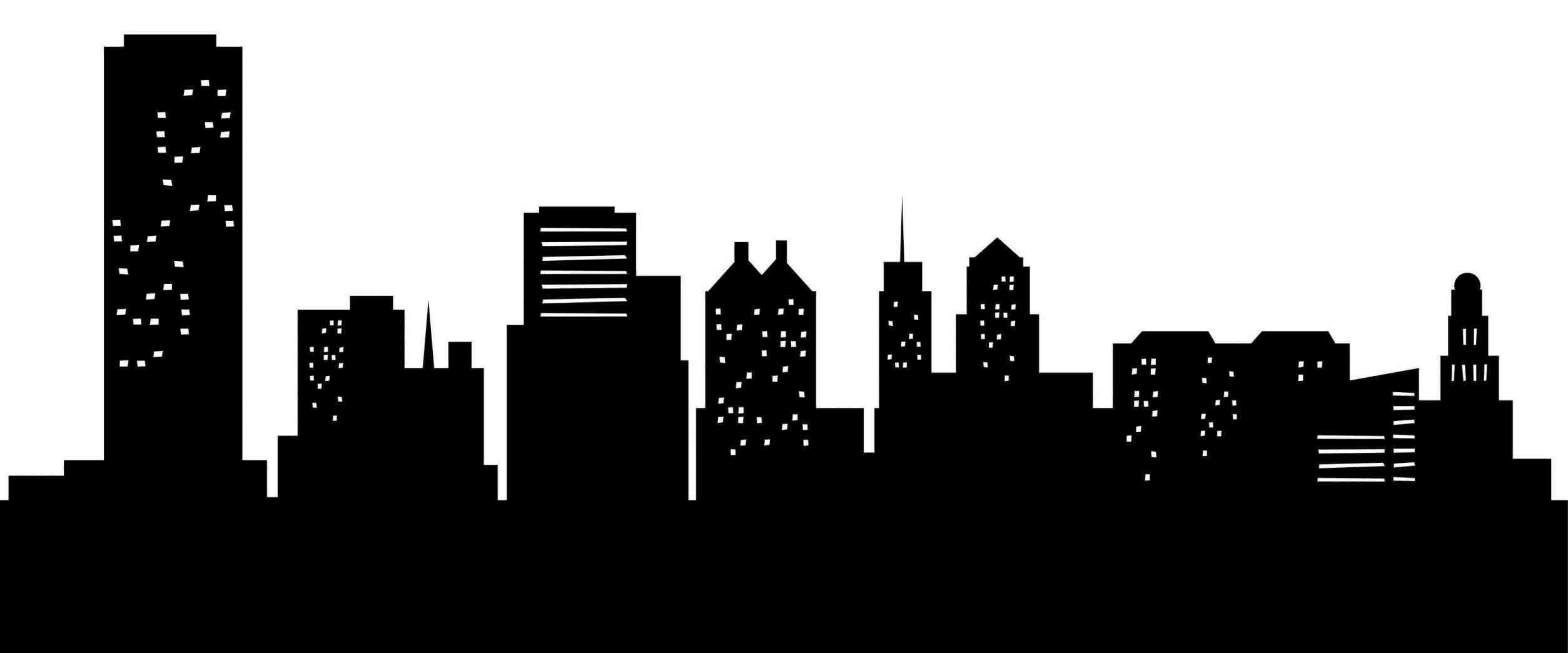 Portland Skyline Silhouette Design Type Skyline