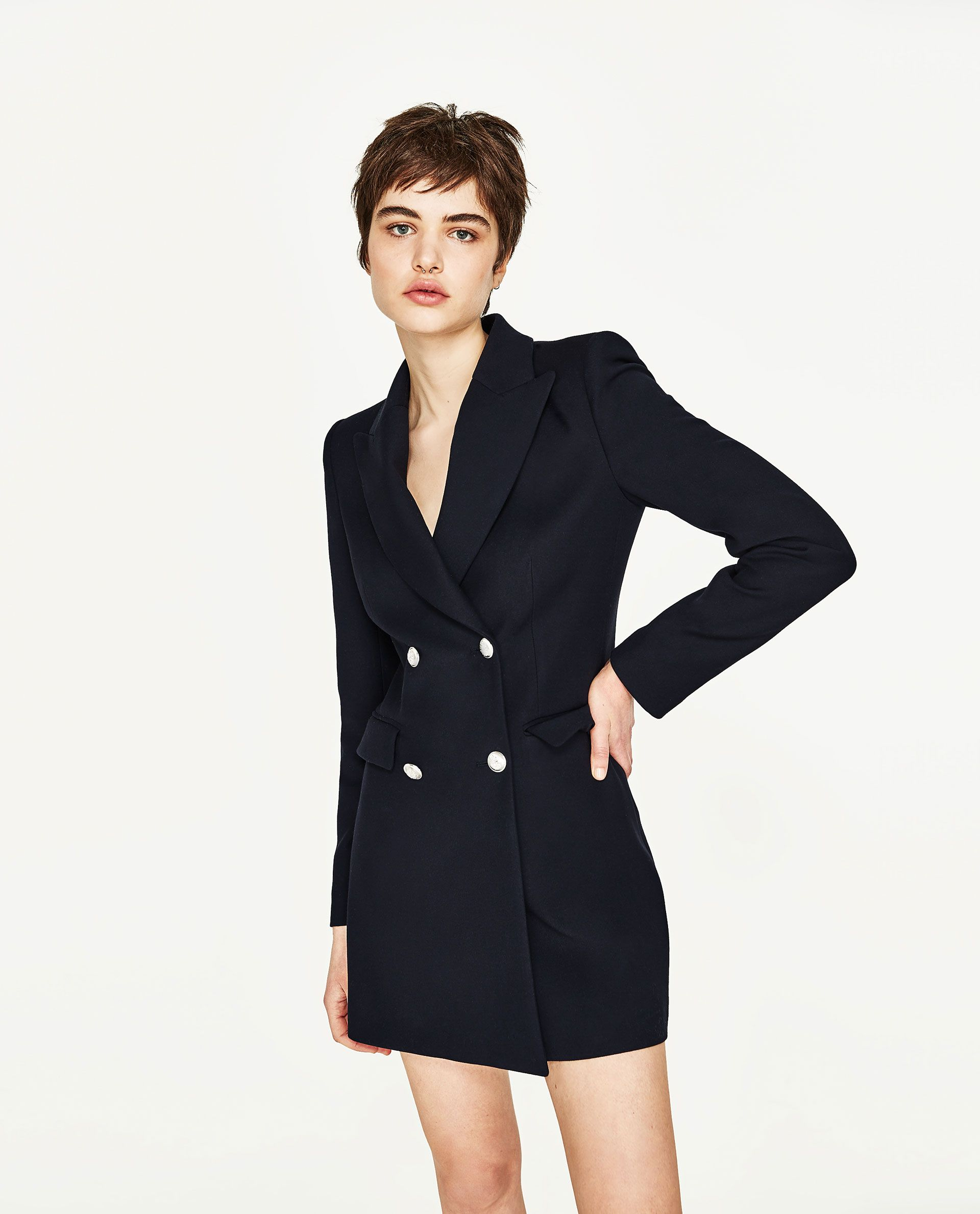 dabeed55 DOUBLE BREASTED FROCK COAT Blazer Dress, Blazer Outfits, Redingote, Frock  Coat, Back
