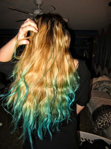 Blue Raspberry Kool Aid Dip Died Hair Super Fun Cute With