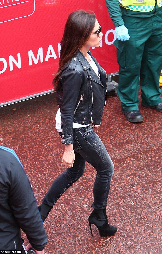 Victoria Beckham at the London marathon today