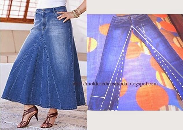 Шьем джинсовую юбку своими руками