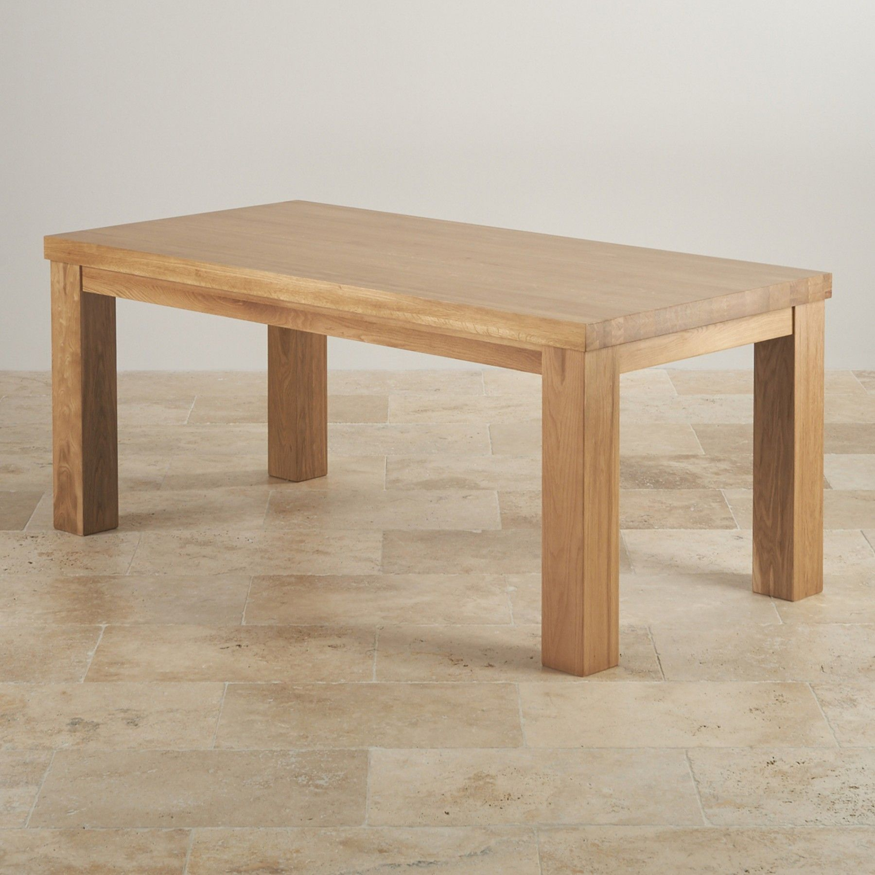 Ideal For Those Who Entertain Often The Fresco Natural Solid Oak