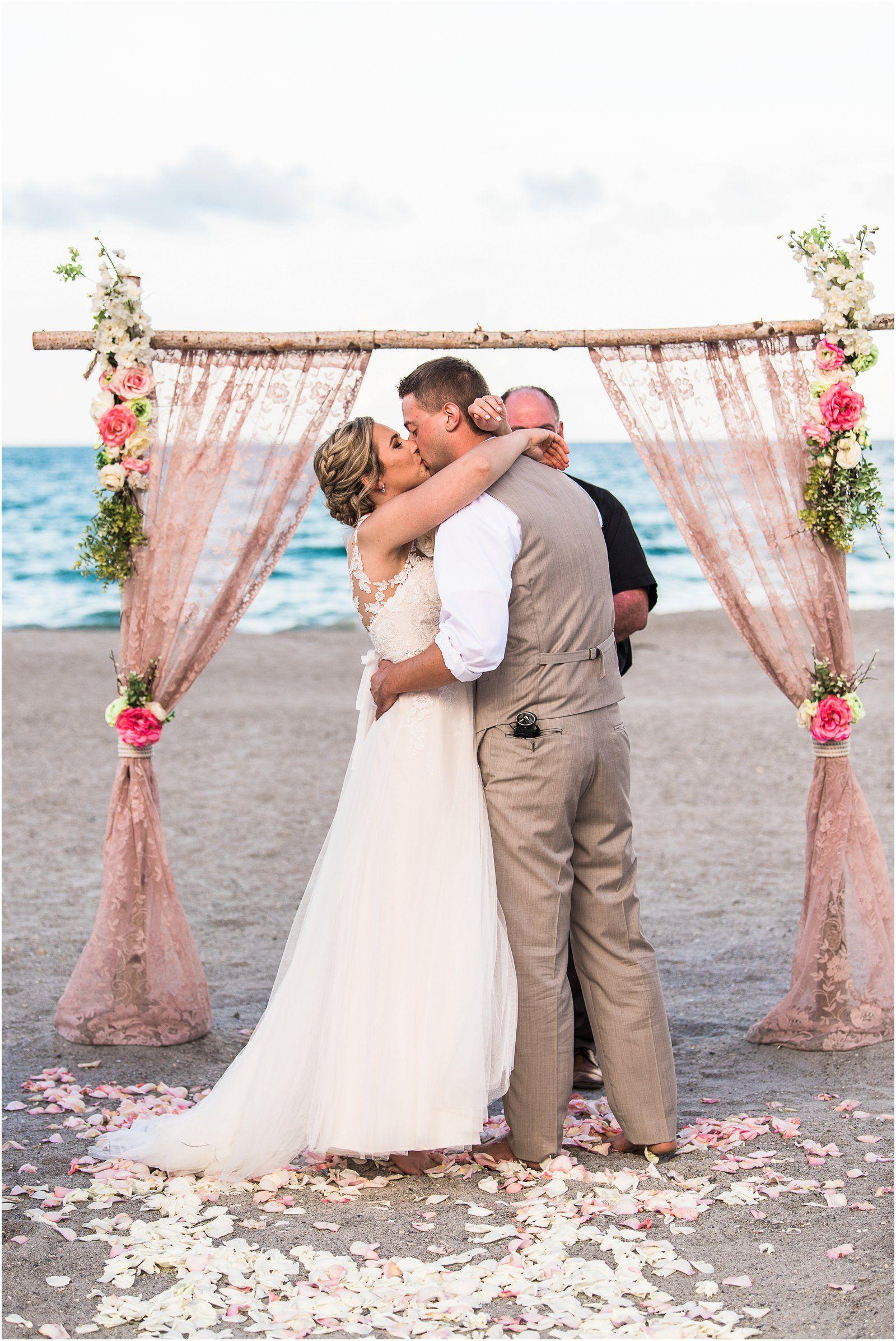 Pink and Pretty Cocoa Beach Wedding Wedding, Beach