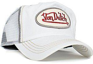 b6bdbd299b3 Von Dutch White Chris Unisex-Adult Trucker Hat -One-Size White White ...
